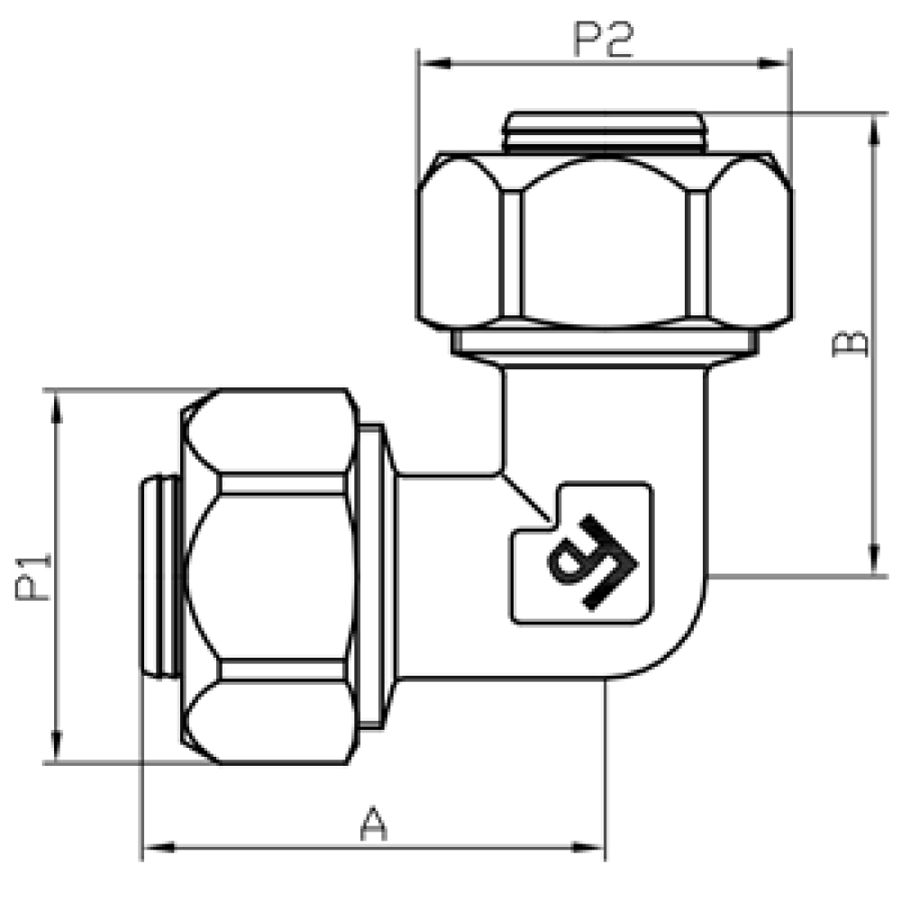 Угол обжимной FADO COMPRESS 16х16