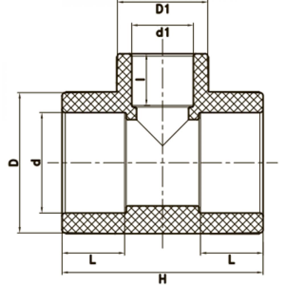 Тройник редукционный FADO PPR 50*32*50