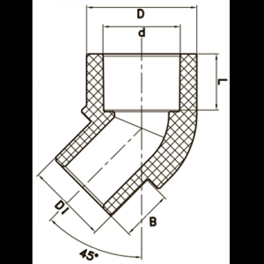 Угол внутренний/наружный 45° FADO PPR 25