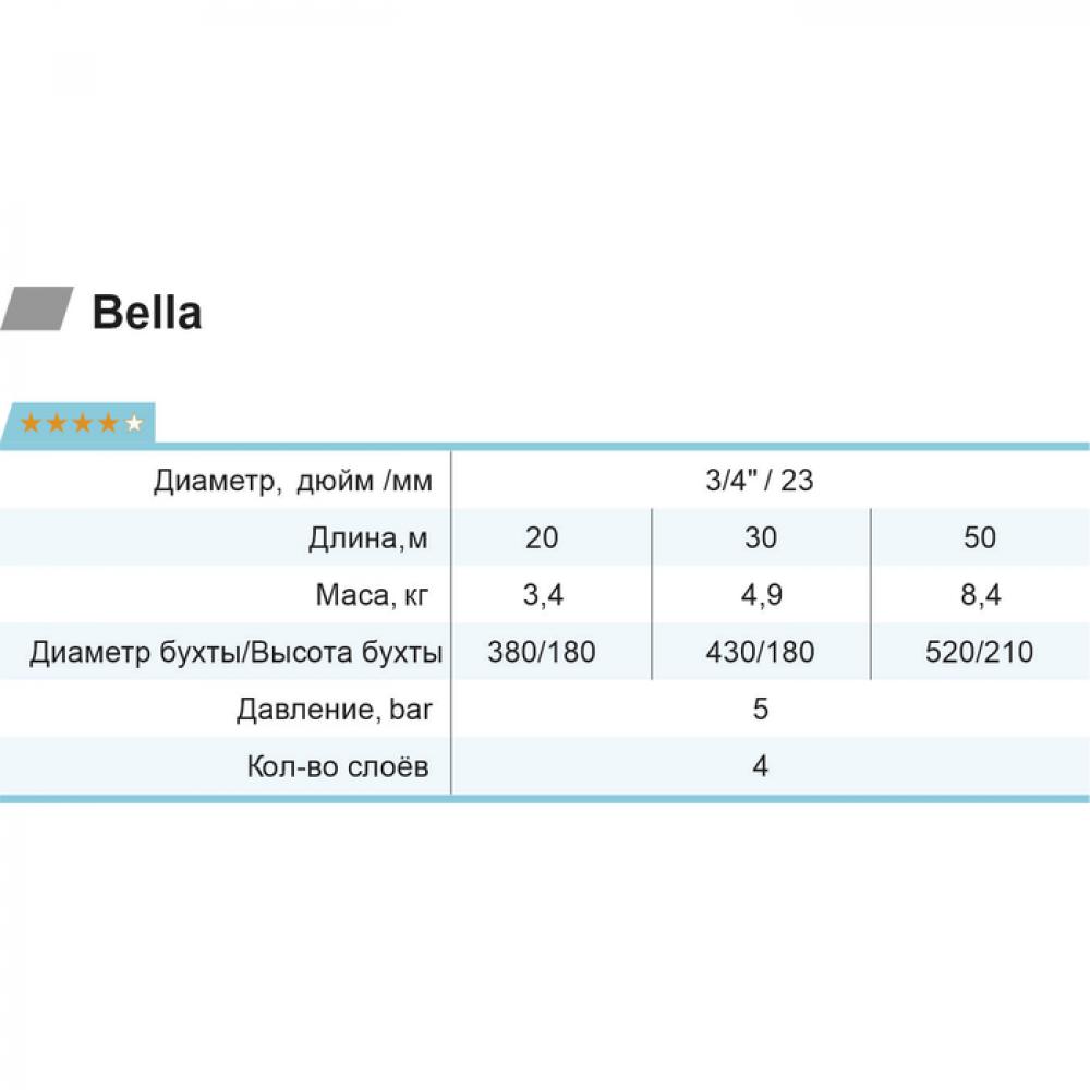 "Шланг для полива Rudes Bella 30 м 3/4"""